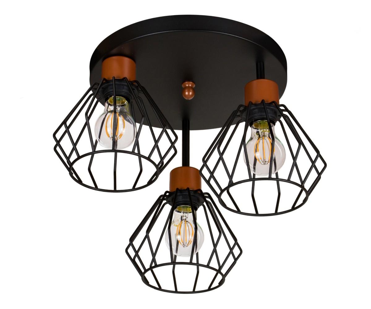 Schwarze Deckenlampe Deckenleuchte BR OST3030MO Leuchte Lampe Wohnzimmerlamp LED   eBay
