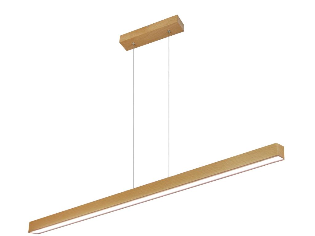 Plafoniere A Led 120 Cm : Led lampada a sospensione led120kb buche legno 120cm