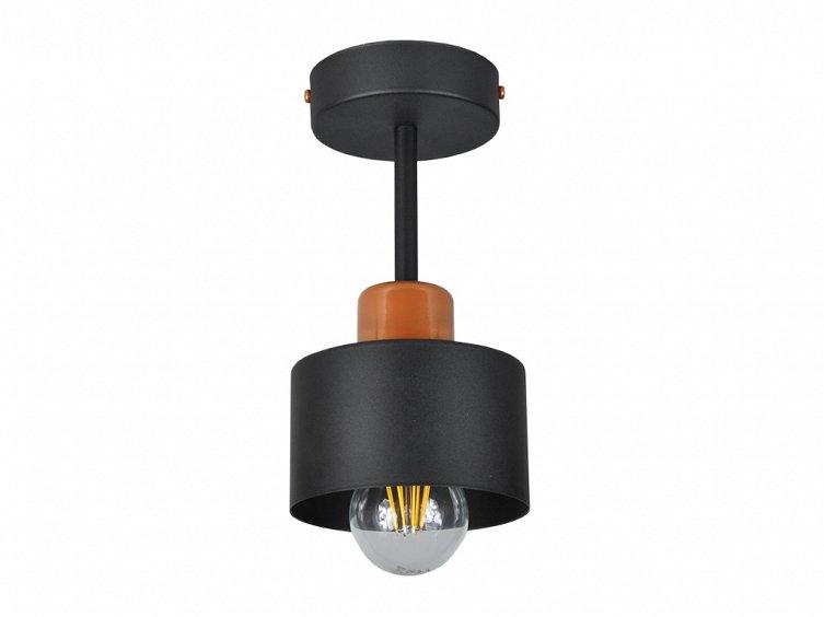 8f942fb9f8 Schwarze Deckenlampe OST1010MO Spot Deckenleuchte Deckenspot 1-flammig günstig  online kaufen   Hausleuchten.de